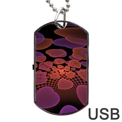 Heart Invasion Background Image With Many Hearts Dog Tag Usb Flash (one Side)