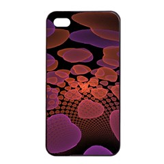 Heart Invasion Background Image With Many Hearts Apple Iphone 4/4s Seamless Case (black)
