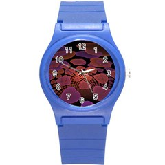 Heart Invasion Background Image With Many Hearts Round Plastic Sport Watch (S)