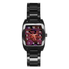 Heart Invasion Background Image With Many Hearts Stainless Steel Barrel Watch