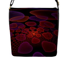 Heart Invasion Background Image With Many Hearts Flap Messenger Bag (L)