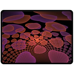 Heart Invasion Background Image With Many Hearts Double Sided Fleece Blanket (Large)
