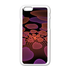 Heart Invasion Background Image With Many Hearts Apple iPhone 6/6S White Enamel Case