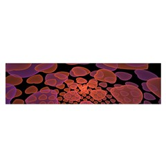 Heart Invasion Background Image With Many Hearts Satin Scarf (oblong)