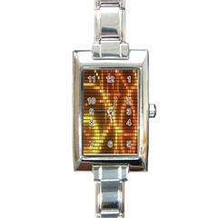 Circle Tiles A Digitally Created Abstract Background Rectangle Italian Charm Watch