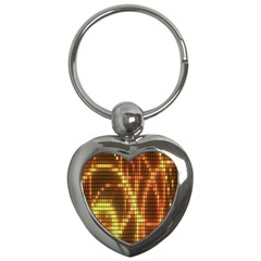 Circle Tiles A Digitally Created Abstract Background Key Chains (heart)
