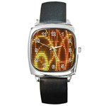 Circle Tiles A Digitally Created Abstract Background Square Metal Watch Front