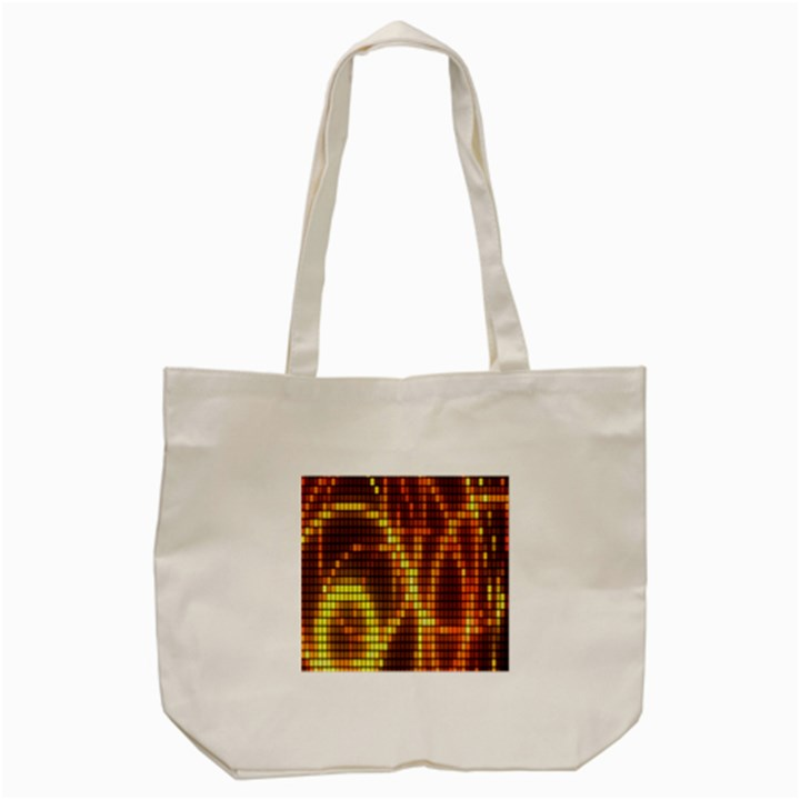 Circle Tiles A Digitally Created Abstract Background Tote Bag (Cream)