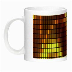 Circle Tiles A Digitally Created Abstract Background Night Luminous Mugs