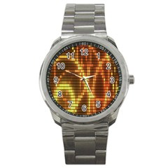 Circle Tiles A Digitally Created Abstract Background Sport Metal Watch