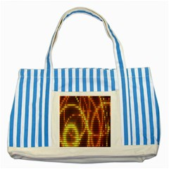 Circle Tiles A Digitally Created Abstract Background Striped Blue Tote Bag
