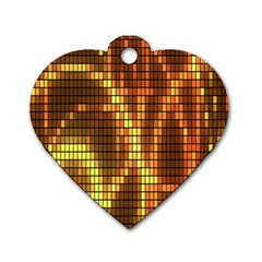 Circle Tiles A Digitally Created Abstract Background Dog Tag Heart (two Sides)