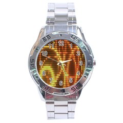 Circle Tiles A Digitally Created Abstract Background Stainless Steel Analogue Watch