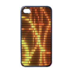 Circle Tiles A Digitally Created Abstract Background Apple Iphone 4 Case (black)