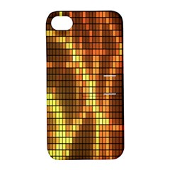 Circle Tiles A Digitally Created Abstract Background Apple iPhone 4/4S Hardshell Case with Stand