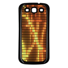 Circle Tiles A Digitally Created Abstract Background Samsung Galaxy S3 Back Case (black)