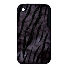 Skin3 Black Marble & Black Watercolor (r) Apple Iphone 3g/3gs Hardshell Case (pc+silicone)