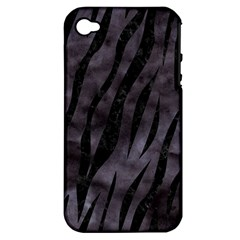 Skin3 Black Marble & Black Watercolor (r) Apple Iphone 4/4s Hardshell Case (pc+silicone)