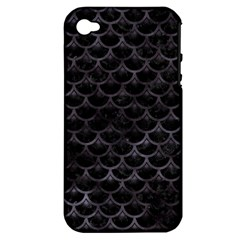 Sca3 Bk Mrbl Bk Wclr Apple Iphone 4/4s Hardshell Case (pc+silicone)