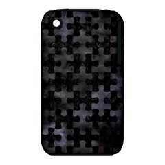 Puzzle1 Black Marble & Black Watercolor Apple Iphone 3g/3gs Hardshell Case (pc+silicone)