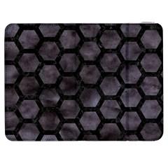 Hexagon2 Black Marble & Black Watercolor (r) Samsung Galaxy Tab 7  P1000 Flip Case