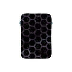 Hexagon2 Black Marble & Black Watercolor Apple Ipad Mini Protective Soft Case