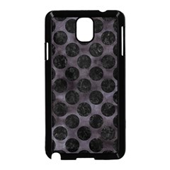 Circles2 Black Marble & Black Watercolor (r) Samsung Galaxy Note 3 Neo Hardshell Case (black)