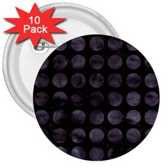 CIR1 BK-MRBL BK-WCLR 3  Buttons (10 pack)