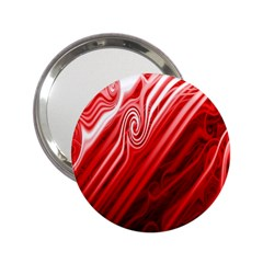 Red Abstract Swirling Pattern Background Wallpaper 2.25  Handbag Mirrors