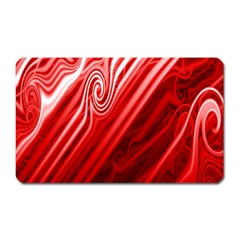 Red Abstract Swirling Pattern Background Wallpaper Magnet (rectangular)