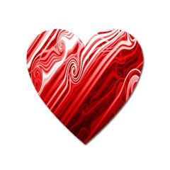 Red Abstract Swirling Pattern Background Wallpaper Heart Magnet