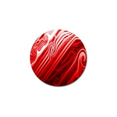 Red Abstract Swirling Pattern Background Wallpaper Golf Ball Marker (4 pack)