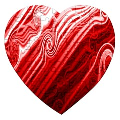 Red Abstract Swirling Pattern Background Wallpaper Jigsaw Puzzle (Heart)