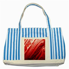 Red Abstract Swirling Pattern Background Wallpaper Striped Blue Tote Bag