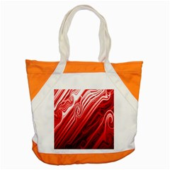 Red Abstract Swirling Pattern Background Wallpaper Accent Tote Bag