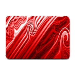 Red Abstract Swirling Pattern Background Wallpaper Small Doormat
