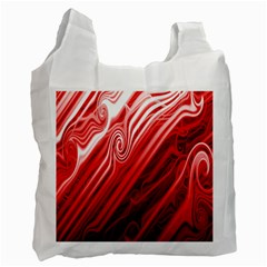 Red Abstract Swirling Pattern Background Wallpaper Recycle Bag (two Side)