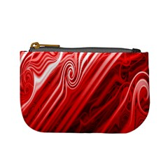 Red Abstract Swirling Pattern Background Wallpaper Mini Coin Purses