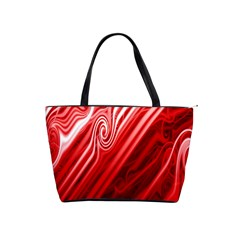 Red Abstract Swirling Pattern Background Wallpaper Shoulder Handbags