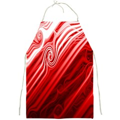 Red Abstract Swirling Pattern Background Wallpaper Full Print Aprons