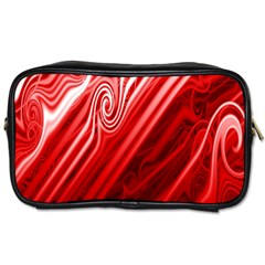 Red Abstract Swirling Pattern Background Wallpaper Toiletries Bags 2 Side