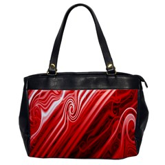 Red Abstract Swirling Pattern Background Wallpaper Office Handbags