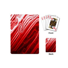 Red Abstract Swirling Pattern Background Wallpaper Playing Cards (mini)