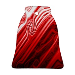 Red Abstract Swirling Pattern Background Wallpaper Ornament (bell)