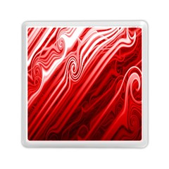 Red Abstract Swirling Pattern Background Wallpaper Memory Card Reader (square)