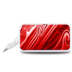 Red Abstract Swirling Pattern Background Wallpaper Portable Speaker (white)