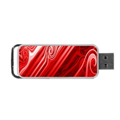 Red Abstract Swirling Pattern Background Wallpaper Portable USB Flash (Two Sides)