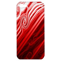 Red Abstract Swirling Pattern Background Wallpaper Apple Iphone 5 Hardshell Case