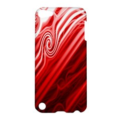 Red Abstract Swirling Pattern Background Wallpaper Apple Ipod Touch 5 Hardshell Case