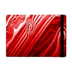Red Abstract Swirling Pattern Background Wallpaper Apple iPad Mini Flip Case
